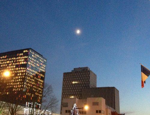 Winter moon, endangered planet